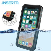 JINSERTA Waterproof Shockproof Diving Case For Iphone X 360 Full Protection Anti Knock Outdoor Phone Back