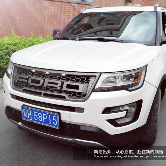 Abs Chrome Car Front Per Mesh Grille Around Trim Racing Grills For Ford Explorer 2016 2017 2018