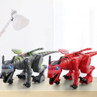 Electric interactive Dinosaurs Toys Walking Dinosaur Robot With Light Sound Swing Simulation Dinosaur Toy For Boy Christmas Gift