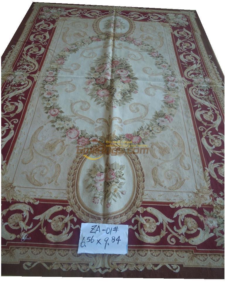 Tapis en laine tapis ronds bleu 200 CM X 300 CM 6.56 'X 9.84 'gc019aubza-01