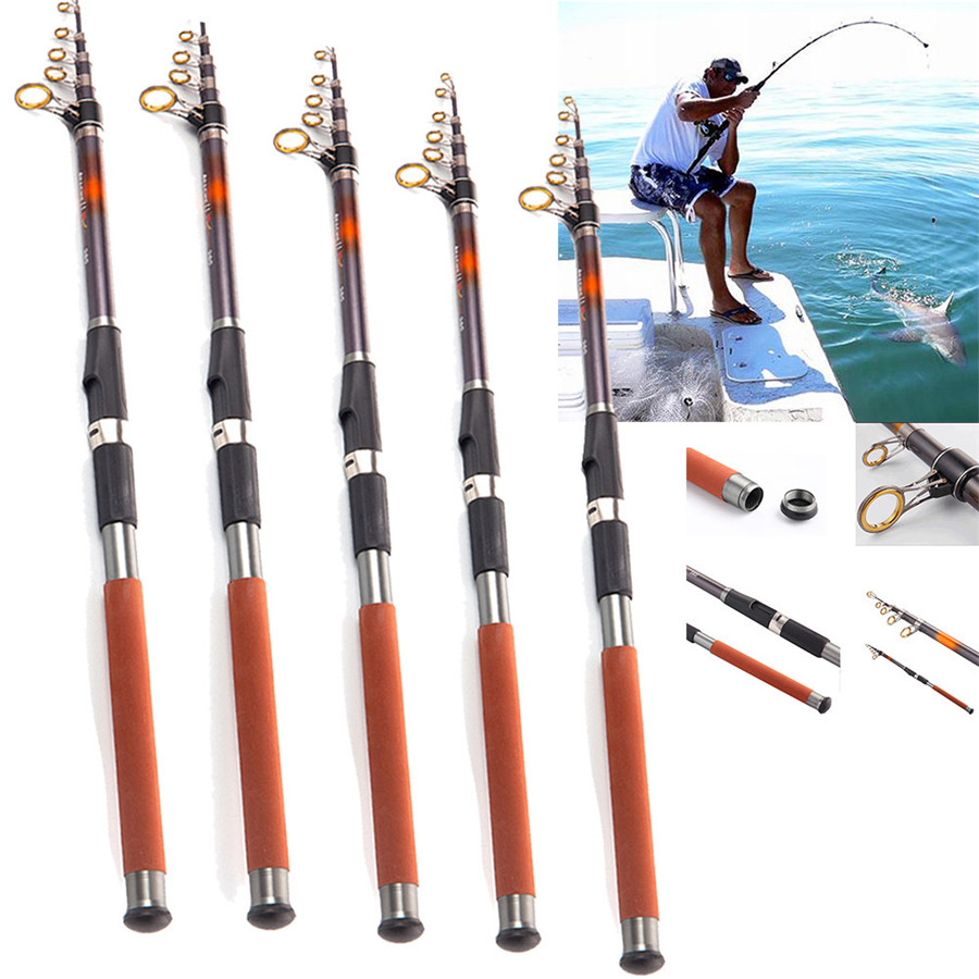 Sea Battle Carbon Rod Long Shot Behind Carbon Stainless Steel Fishing Rod A1