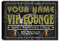 scqi2-tm Name Custom VIP Lounge Wine Bar Pub Stretched Canvas Print Decor Sign Wholesale Dropshipping