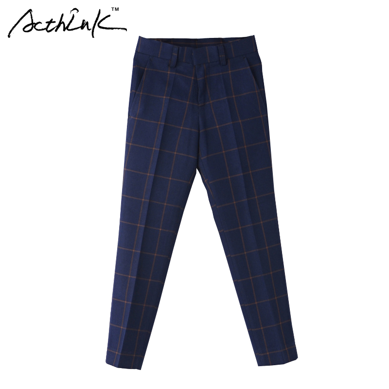 ActhInK Children Formal Plaid Long Wedding Pant Brand Gentle Boys Preppy Style Suit Pant Kids Party & Wedding Trousers, MC165