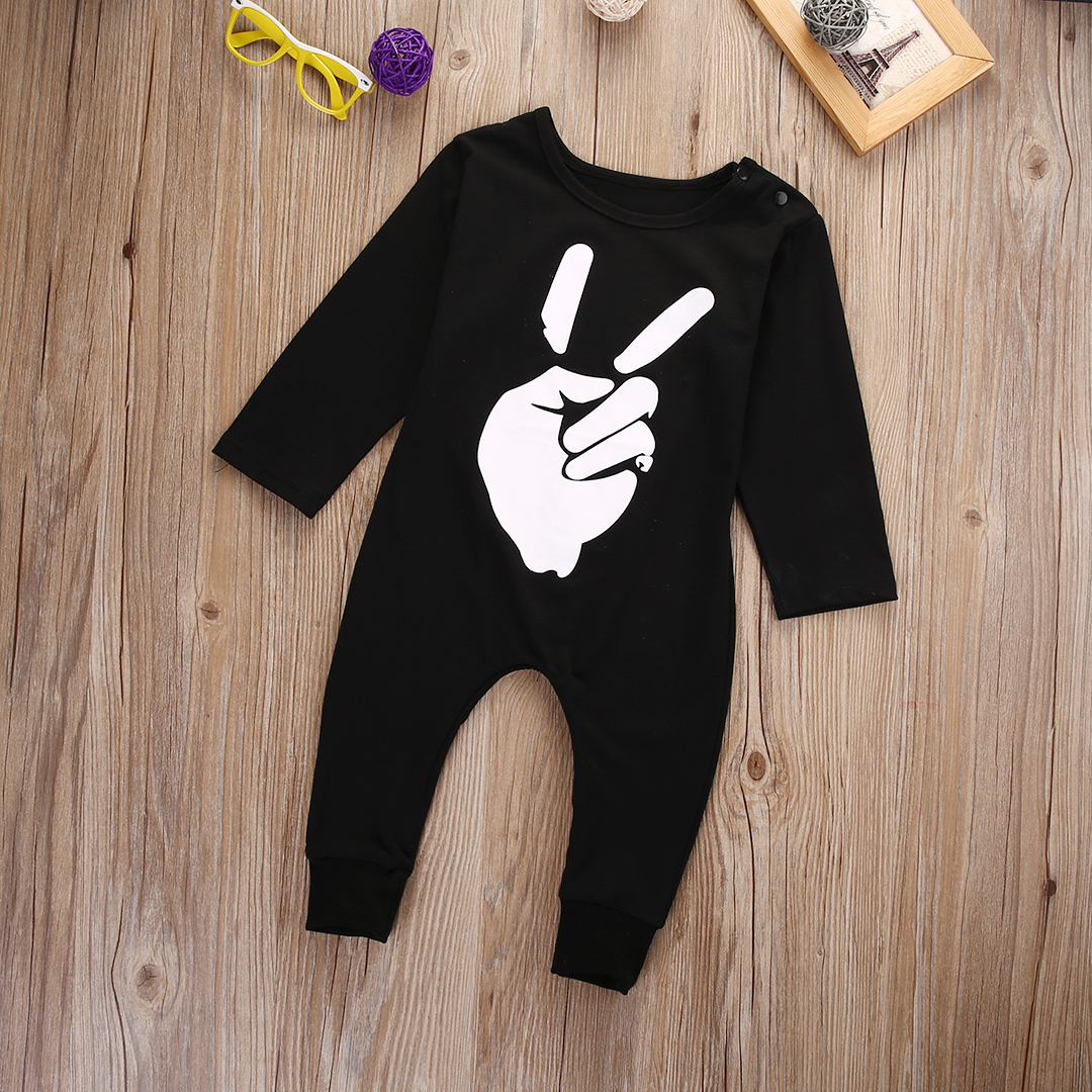 Brand NEW Good Quality Cute Newborn Kids Baby Infant Girl Boy Black Cotton Romper Jumpsuit Outfits Clothes cotton newborn infant baby boy girl clothing romper sleeveless cotton jumpsuit cute animals clothes outfits