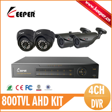 KEEPER Safety Surveillance CCTV System 4CH Full 960H DVR 800TVL CMOS IR Cameras System IR Minimize Filter 8CH DVR Equipment