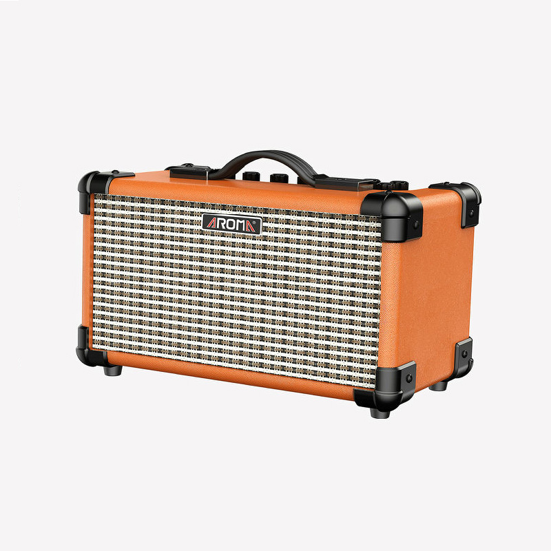aroma tm 15a electric guitar amplifier 15w portable amp with microphone interface built in. Black Bedroom Furniture Sets. Home Design Ideas