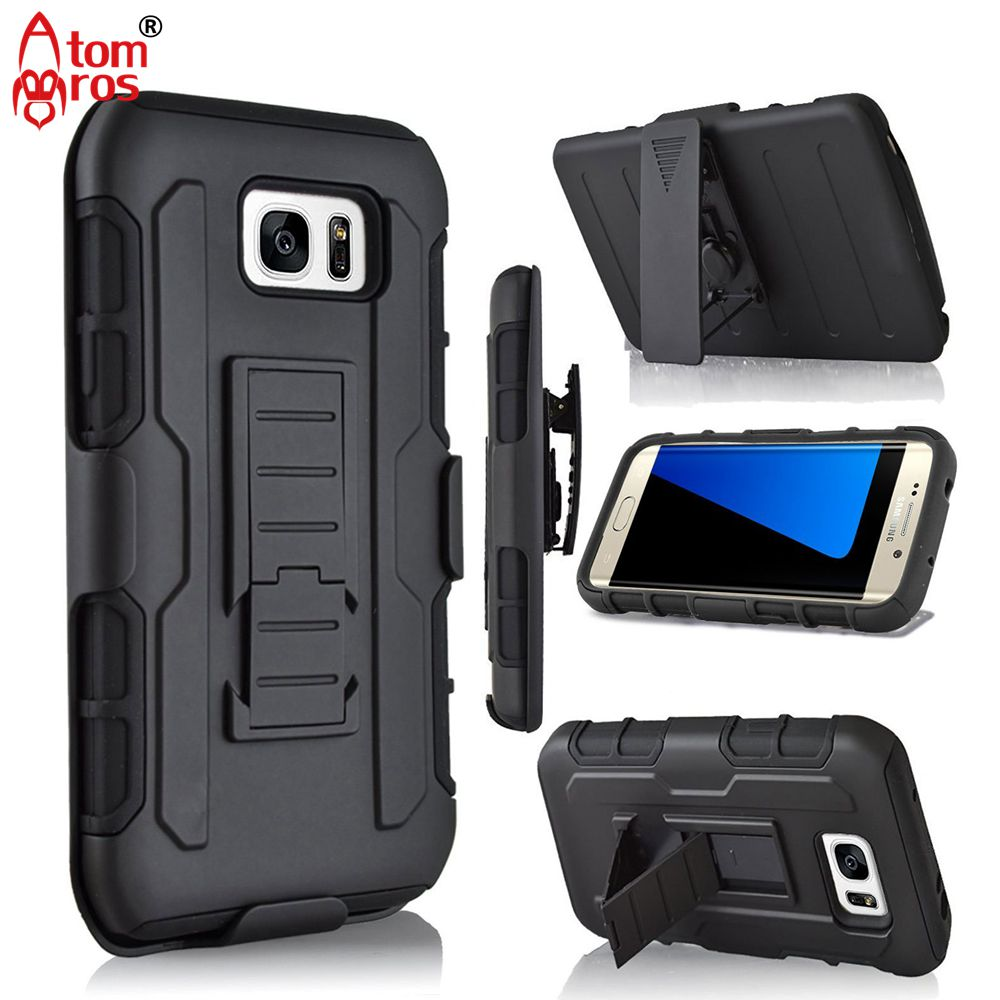 Rugged Belt Clip Cover Hard Armor Case For Samsung Galaxy S3 S4 S5 S6 S7 Edge Mini Active Plus Cases Phone Shell Skin Fundas