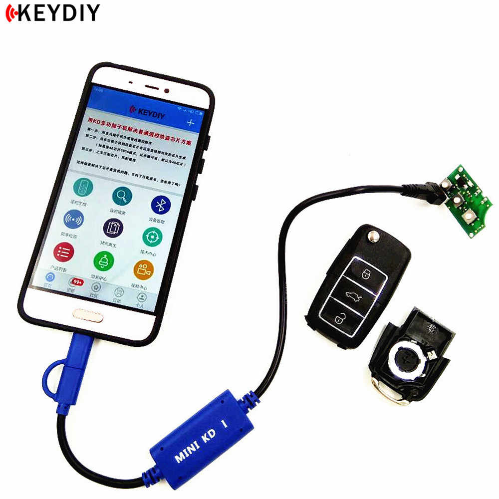 KEYDIY Mini KD Key Generator Remotes Warehouse in Your Phone Support Android Make More Than 1000 Auto Remotes