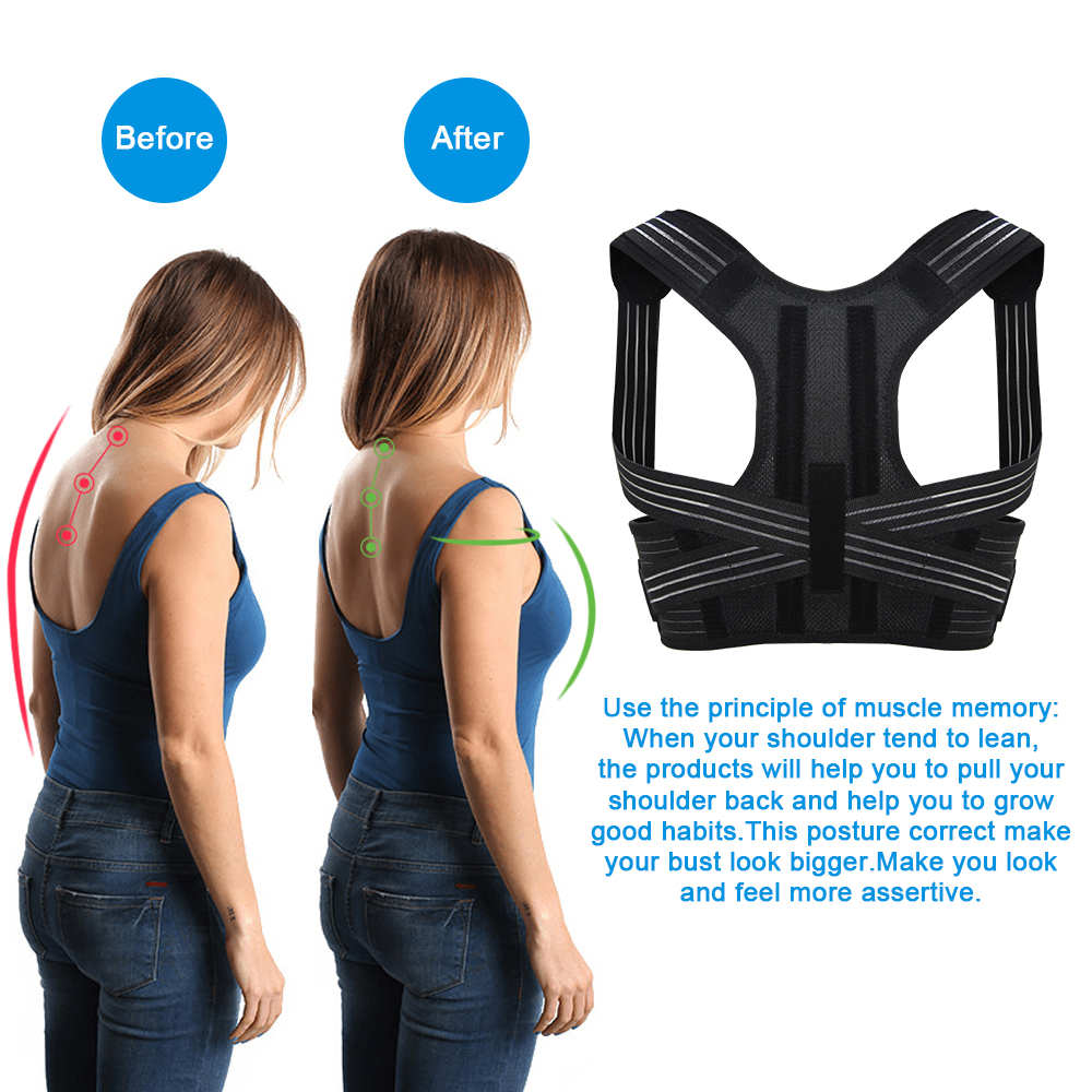 Aptoco Posture Corrector Brace Shoulder Back Support Belt for Unisex Braces & Supports Belt Shoulder Posture Dropshipping 3