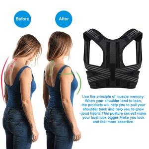 Image 4 - Aptoco postura correttore Brace spalla posteriore supporto cintura per bretelle Unisex e supporti cintura spalla postura Dropshipping