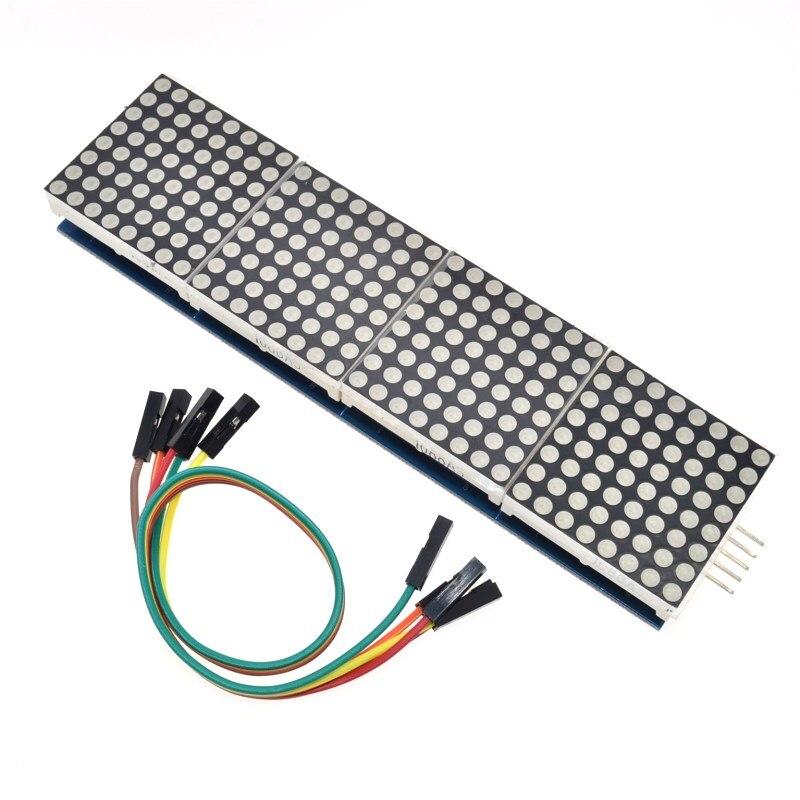 MAX7219 Dot Matrix Modul Für Arduino Mikrocontroller 4 In Einem Display mit 5P Linie