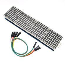Módulo de matriz de puntos MAX7219 para microcontrolador Arduino, pantalla 4 en 1 con Línea 5P
