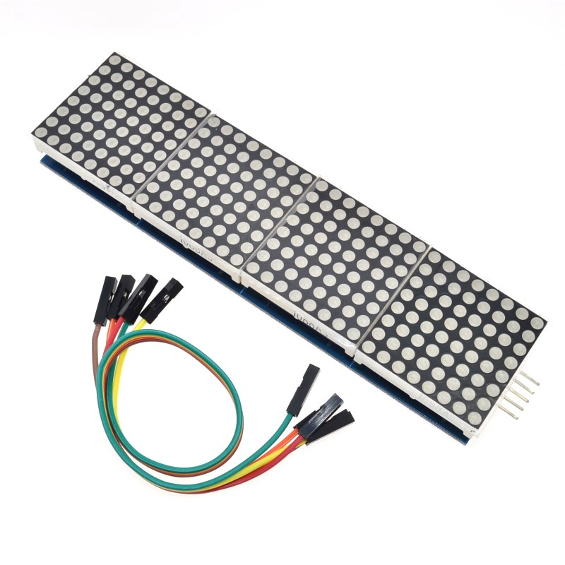 MAX7219 moduł z matrycą punktową do mikrokontrolera Arduino 4 w jednym wyświetlaczu z linią 5P
