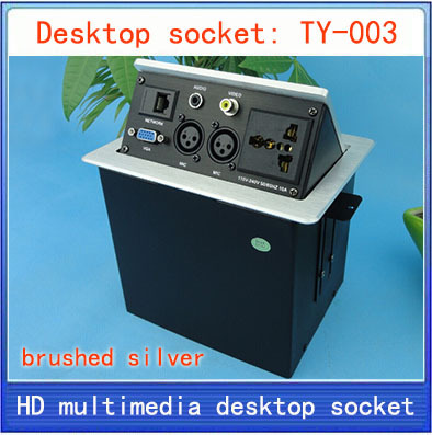 Desktop socket /hidden multimedia information box outlet /network RJ45 3 PIN XLR VIDEO AND AUDIO interface desktop socket TY-003 knowledge formalization and information retrieval
