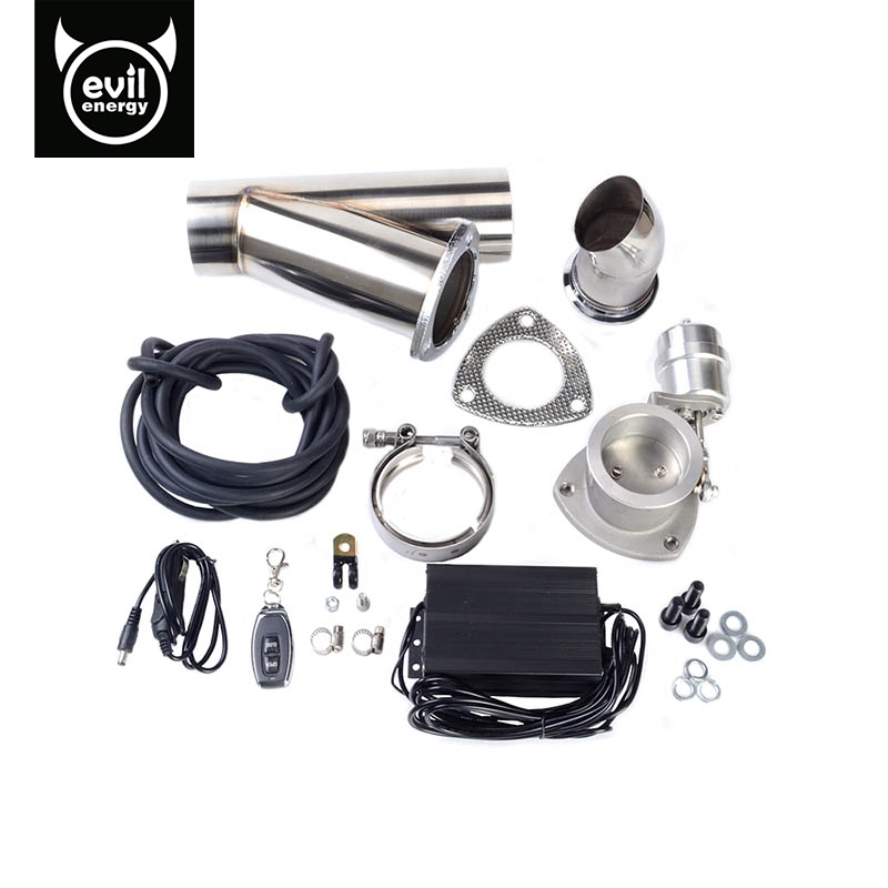 evil energy-3.0 Inch Stainless Steel Electric Exhaust Cutout System E-Cut Vacuum Pump Valve With Remote Control High Quality очиститель от накипи melitta для кофеварок и чайников 250мл 1500745