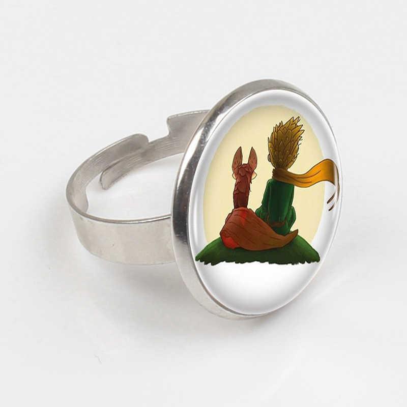 ZBOZWEI 2018 הנסיך הקטן לוגו נחושת טבעת נשים טבעת הצהרת נחושת טבעת לגברים שמלת אביזרי מתנה