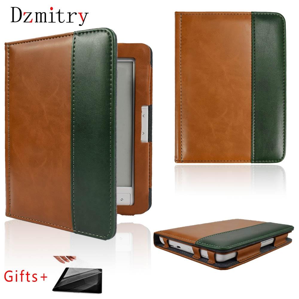 Роскошный кожаный чехол с откидной крышкой 6 дюймов ebook E60C для Digma e61M eReader R61M, всесторонний Защитный Чехол + пленка