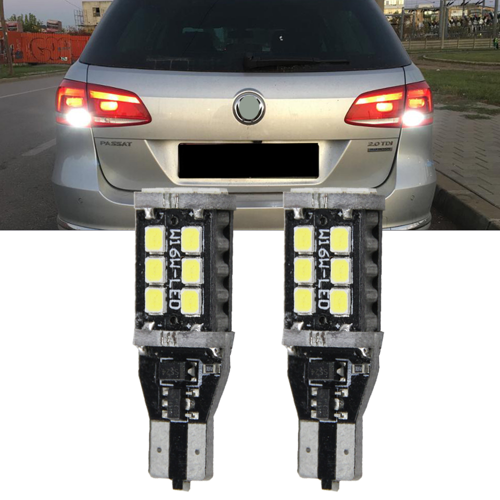 2x 921 912 906 T15 Super Bright 800 Lumens 6000K Xenon White High Power 2835 15-SMD LED Lights Bulbs for Back Up Reverse Light 2pcs brand new high quality superb error free 5050 smd 360 degrees led backup reverse light bulbs t15 for jeep grand cherokee
