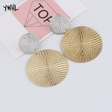 Fashion simple pendant size round circle earrings temperament personality color matching bump ear jewelry