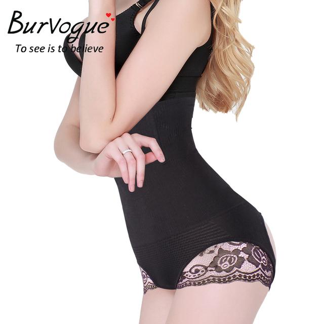 Burvogue Slimming Steel Bone High Waist Body Shaper for Women Hot Shapers Butt Lifter and Tummy Control Underwear Lace Shaper