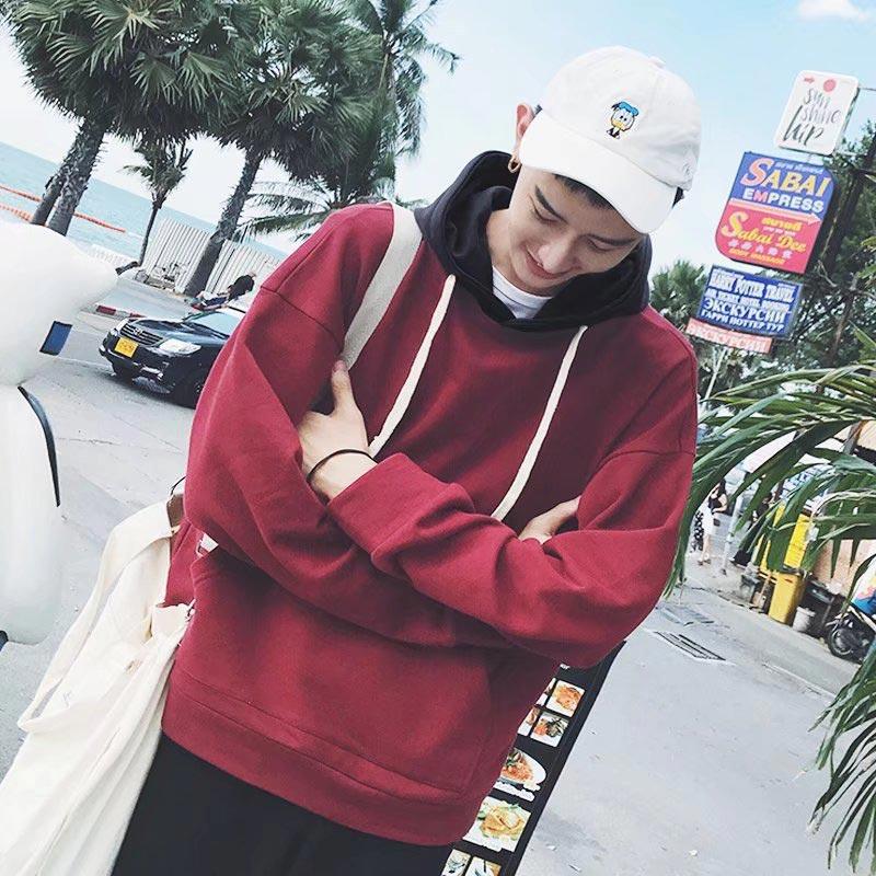 Fjun толстовки Топы в полоску толстовка новый 2018 Мода в стиле хип-хоп мужские толстовки брендовая Повседневная флис с капюшоном/пуловер Толст...