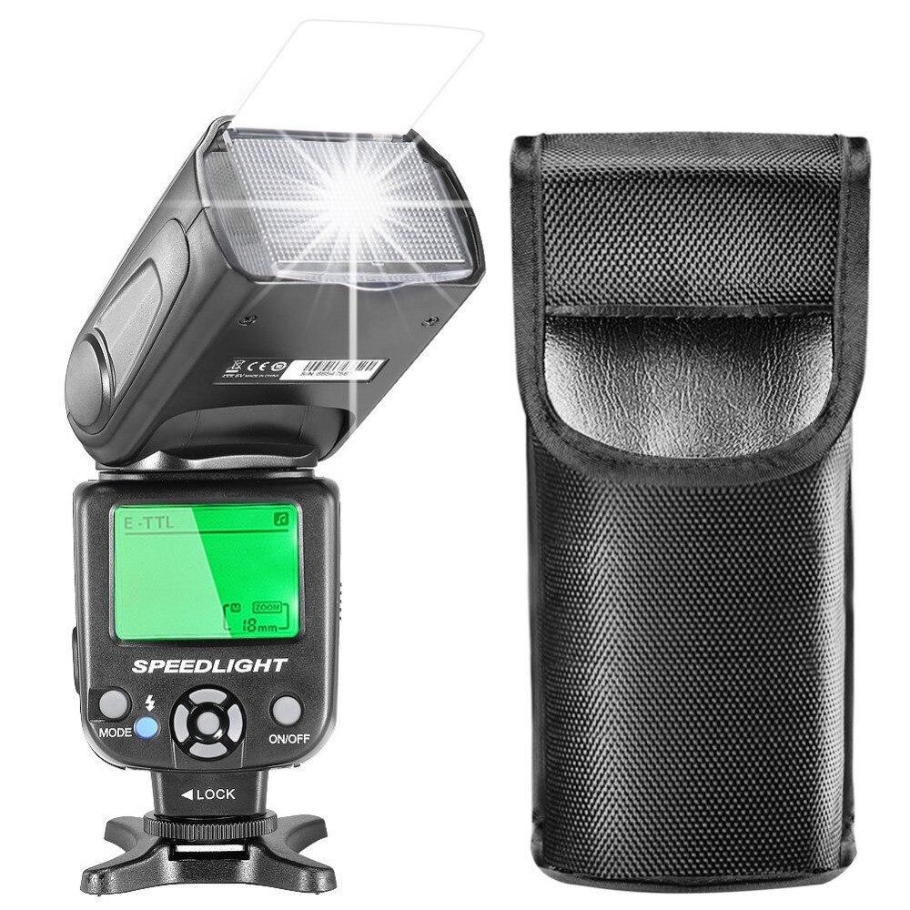 Neewer E-TTL Speedlite Flash LCD affichage diffuseur dur + sac de protection pour Canon 7D Mark II/5D Mark II III IV/1300D/1200D/750DNeewer E-TTL Speedlite Flash LCD affichage diffuseur dur + sac de protection pour Canon 7D Mark II/5D Mark II III IV/1300D/1200D/750D