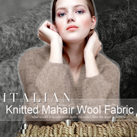 170CM Wide 240G M Weight Knitted Mahair Wool Fabric For Autumn And Winter Jacket Overcoat Outwear
