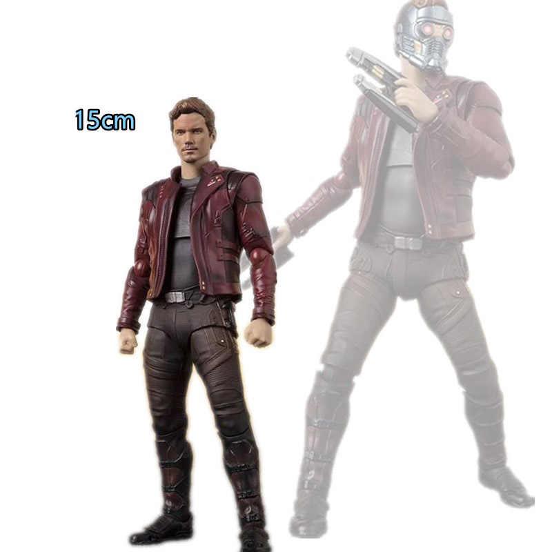 Anime figura filme quente 15 cm Vingadores Thanos Infinito Guerra Doutor Estranho Do Homem Aranha Capitão América figura de ação coleção brinquedos