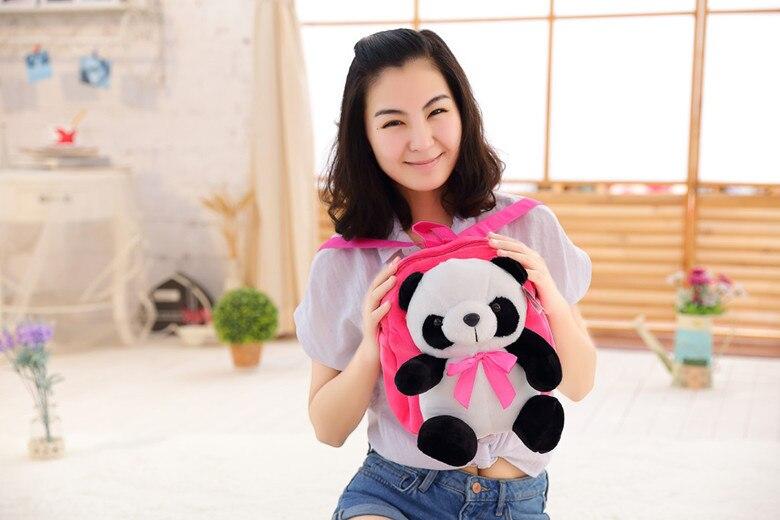 kawaii cute stuffed ცხოველები panda schoolbag - პლუშები სათამაშოები - ფოტო 1