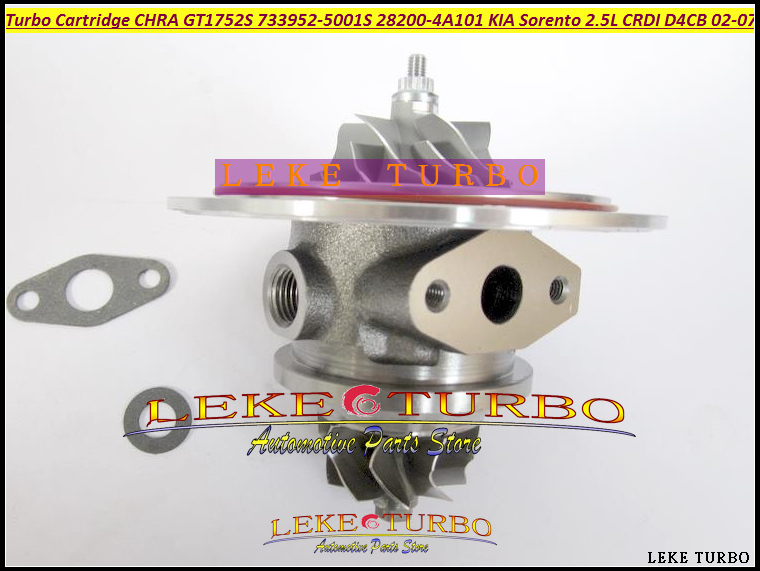 Free Ship Turbo Cartridge CHRA GT1752S 733952-5001S 733952-0001 733952 28200-4A101 Turbocharger For KIA Sorento D4CB 2.5L CRDI turbo rebuild repair kit bv43 53039880122 53039880144 53039700144 28200 4a470 282004a470 for kia sorento 2001 06 d4cb 2 5l crdi