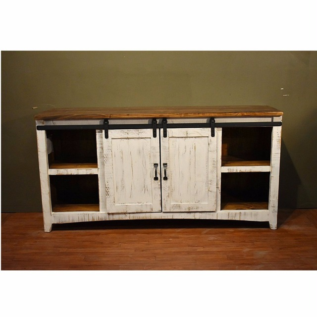 4ft 66ft Wooden Cabinet Windows Sliding Barn Double Door Hardware