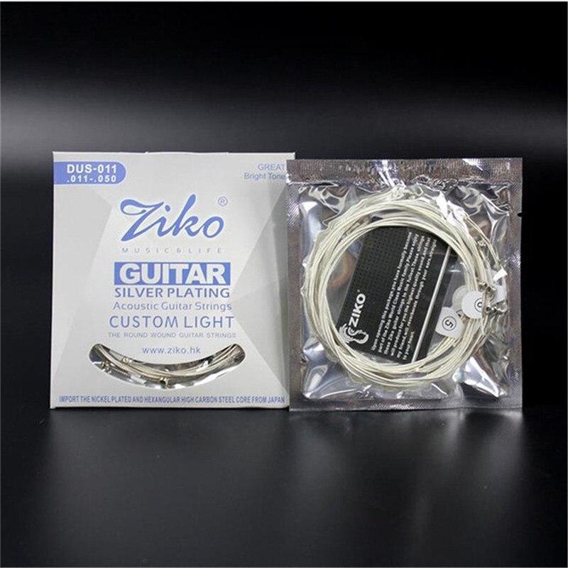 3 set/lote. 011-.050 DUS-011 Acústica ZIKO cuerdas de guitarra partes de guitarr