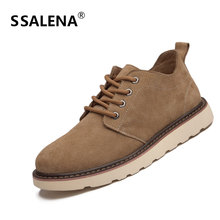 Men Winter Round Toe Ankle Boots Male Retro Soft Rubber Short Boots Men Lace Up Breathable Comfortable Shoes AA60841