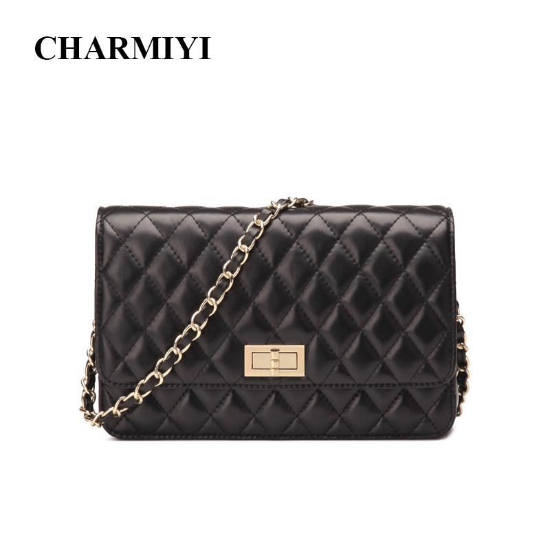 CHARMIYI 2017 New Fashion Small Bag Women Messenger Bags Soft Real Leather Shoulder Crossbody Bag Women Clutches Bolsas Feminina 2017 fashion all match retro split leather women bag top grade small shoulder bags multilayer mini chain women messenger bags