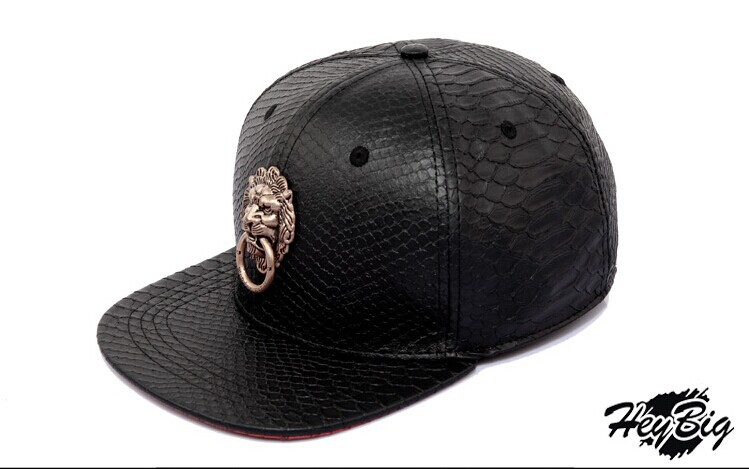 2015 New WONDER HOMIE Lion Head Shop Black Snakeskin Hat Baseball Caps-in Baseball  Caps from Apparel Accessories on Aliexpress.com  3b90038afb4