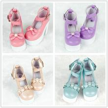 Fashion Doll Shoes 7CM Mini High-heeled Leather Shoes Girl S