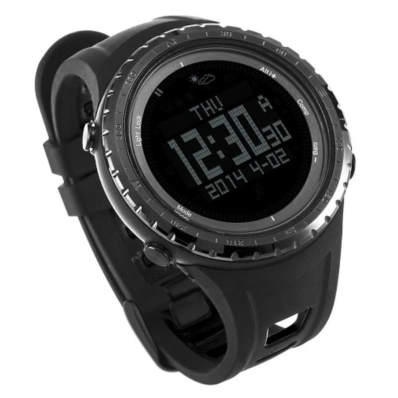 Sunroad 5ATM Digital Sports Watch Smart Fishing Watch Barometer Altimeter Compass Thermometer Pedometer