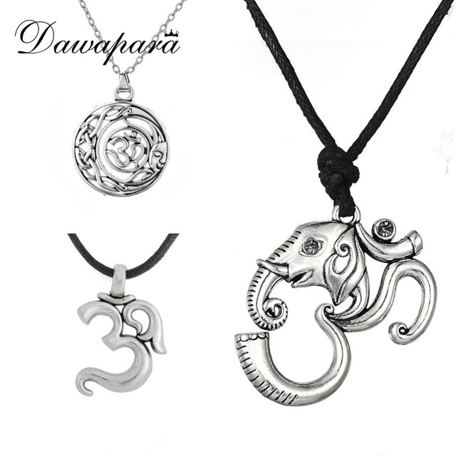 Dawapara Mandala Ganesha Liontin Gajah Kalung Matahari dan Bulan Online Shopping India Wanita Kalung Om Yoga Perhiasan India