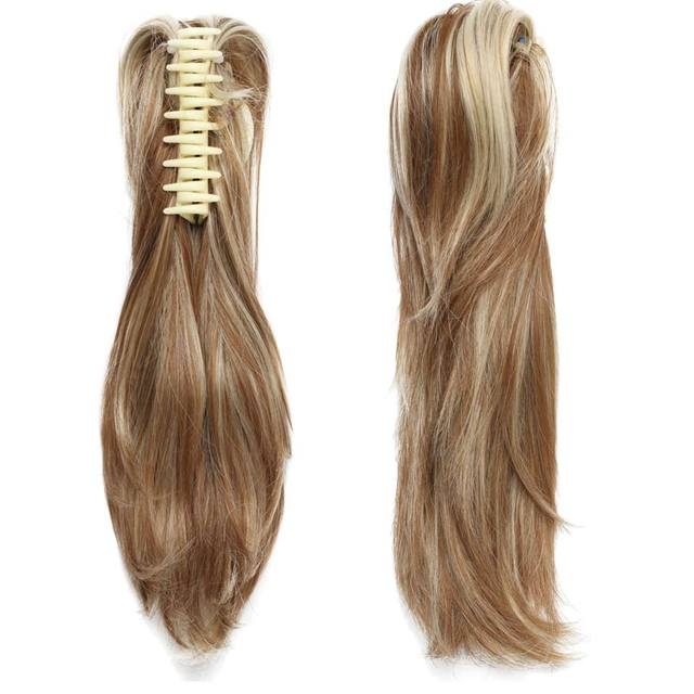 12″ DIY Claw Clip Ponytail Pony Tail Clips in Hair Extensions