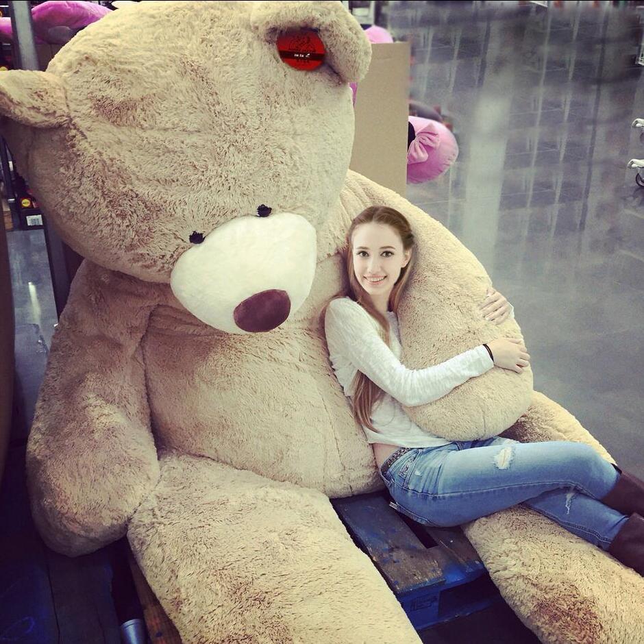 Amerika beruang besar 100-260cm Big sumbat haiwan Teddy Bear Cover Plush Soft Toy Doll Bantal Cover (Tanpa Barang) Kanak-kanak Bayi Hadiah