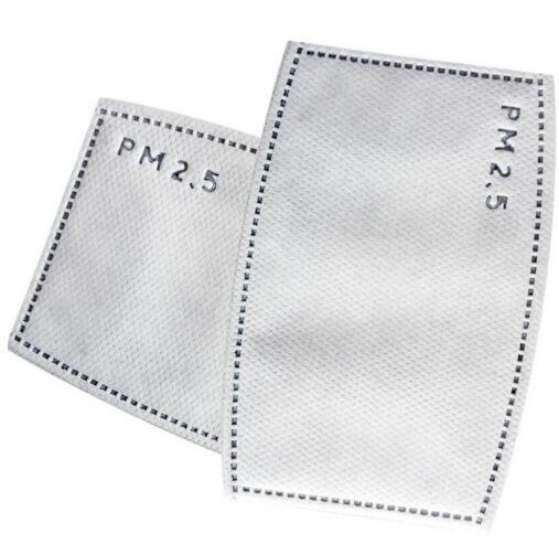 400 Unids/pack 5 Capas De Filtro De Carbono Activado N95 No Tejida Pm2.5 Anti Niebla Boca Máscara De Polvo Filtros Reemplazables Para Boca-de Mufla Sabor Puro Y Suave