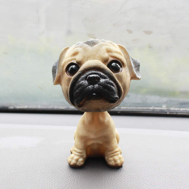 b3a6c8e2887 Online Shop Creative Resin Big Size chihuahua pug Bobblehead Dog Figurines  Cute Puppy Figurines Miniatures Ornaments Crafts Car Decoration