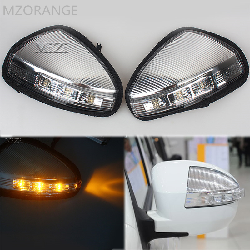 цена на MZORANGE 1/2 Piece Rearview Mirror Turn Signal Light Side Lamp/For LIFAN X60 Steering Lamp Indicator Car styling Left / Right