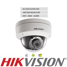 Английская Версия DS-2CD2142FWD-IWS 4.0 Мегапиксельная ИК Купольная Сетевая Камера Поддержка H.264 + POE ip-камера WDR ip-камеры