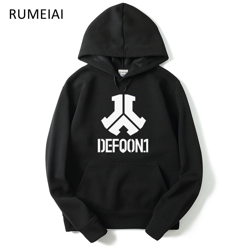 New Fashion Rushed Defqon.1 Rock Band Winter Bomber Jackets Coats Casual Cotton Mens Hoodies And Sweatshirts Hip Hop Size XXL