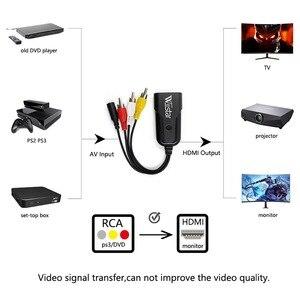 Image 3 - 1080P Composite AV RCA to HDMI Video Converter Adapter Full HD 720/1080p UP Scaler AV2HDMI for HDTV Standard TV
