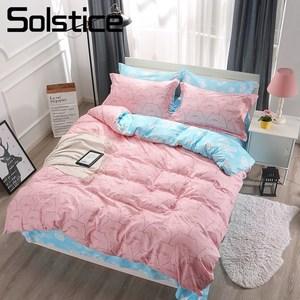 Image 1 - 지점 홈 섬유 킹 퀸 싱글 침구 러블리 돼지 핑크 이불 커버 시트 베개 케이스 소녀 아이 십대 침대 시트 세트