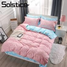 Solstício casa têxtil rei rainha única roupa de cama terno adorável porco rosa duvet cover folha fronha menina criança adolescente roupa conjunto