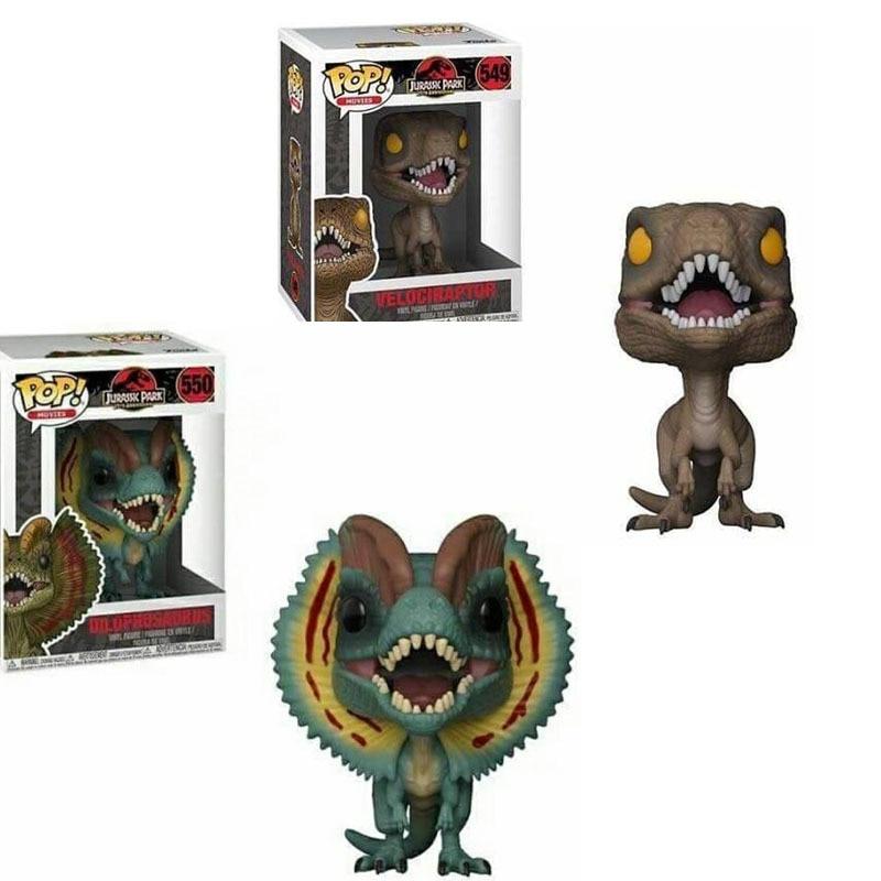 Funko POP  Jurassic World & Dinosaur Velociraptor Action Figure Boy Toys For Children Birthday Gift