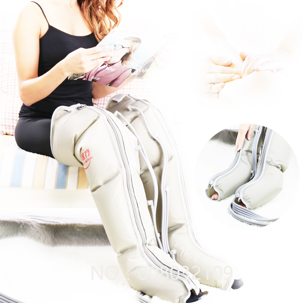 EMS пожилой пневматический массаж ног трение массаж ног Электрический воздух давление волна физиотерапия массаж